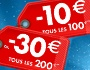 -10€ tous les 100€ ou -30€ tous les 200€
