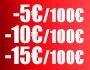 Code promo jusqu'à -15€ tous les 100€