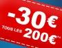 Le Noël de vos envies : 30€ tous les 200€ !