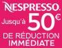 Remise immédiate sur Nespresso
