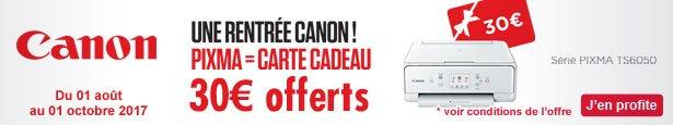 ODR - Offre de Remboursement CANON
