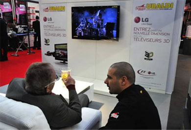 TV 3D foire de nice, stand UBALDI